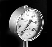 Pressure Gage. On black background stock photo
