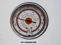 Pressure gage thermometer in reverse osmosis system control pa. Nel royalty free stock photo