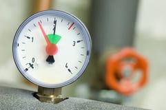 Pressure gauge. On a boiler royalty free stock images