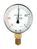 Pressure gauge. Isolated on a white background royalty free stock images