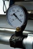 Pressure gauge. With silver pipe Royalty Free Stock Photography