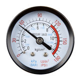 Pressure gauge. Isolated on a white background royalty free stock photo