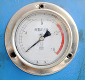 Pressure gauge. Seismic electric contact pressure gauge royalty free stock photography