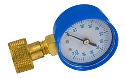 Pressure gauge. Water pressure gauge isolated Stock Images