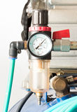 Pressure gauge and air filter regulator Stock Images