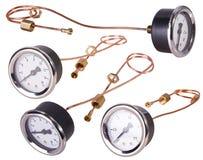 A Pressure Gauge. Bar pressure measuring kit royalty free stock photos