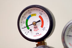 Pressure Gauge(Bourdon Gauge) Stock Image