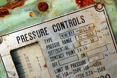 Pressure Gauge Control Panel Royalty Free Stock Images
