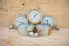 Pressure gauge or damage pressure gauge Royalty Free Stock Image