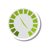 Pressure gauge device icon Royalty Free Stock Images