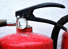Pressure gauge of fire extinguisher Royalty Free Stock Photos
