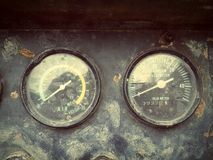 Pressure gauge. For fuel power generator Royalty Free Stock Images