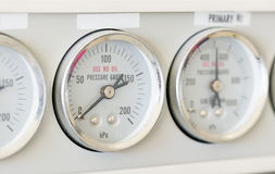 Pressure gauge of Gas Chromatography Stock Photo