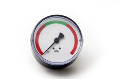 Pressure gauge. A pressure gauge without gradation seen from front Royalty Free Stock Images