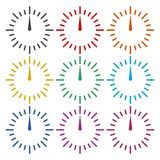 Pressure gauge icon, speed meter, color icons set. Simple vector icon Royalty Free Stock Image