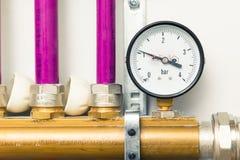 Pressure gauge indicator Stock Photo