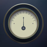 Pressure Gauge. Isolated on blue background Royalty Free Stock Images