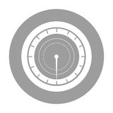 Pressure gauge isolated icon Stock Image