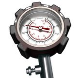 Pressure Gauge isolated On White Royalty Free Stock Image