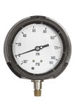 Pressure gauge isolated on a white background with clipping path Stock Photography
