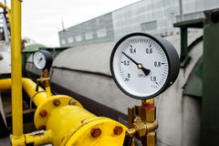 Pressure gauge manometer Royalty Free Stock Photos