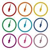 Pressure gauge - Manometer icons set Royalty Free Stock Image