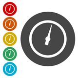 Pressure gauge - Manometer icons set. Vector icon stock illustration
