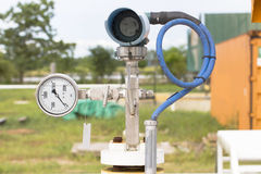 Pressure gauge, measuring instrument Stock Photo
