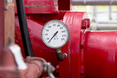 Pressure gauge, measuring instrument Stock Image