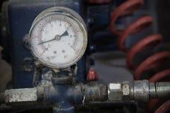 Pressure gauge, measuring instrument close up Stock Photos
