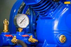 Pressure gauge, measuring instrument close up. boiler, gauge.  royalty free stock photo