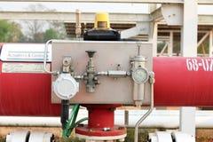 Pressure gauge, measuring instrument close up. Royalty Free Stock Photos
