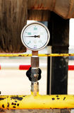 Pressure gauge, measuring instrument close up. Royalty Free Stock Photo