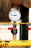 Pressure gauge, measuring instrument close up. Royalty Free Stock Photo
