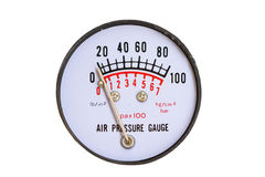 Pressure gauge for measuring pressure in the system, Oil and gas process used pressure gauge to monitor pressure condition inside Stock Photos