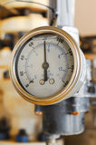 Pressure gauge for measuring pressure in the system Royalty Free Stock Photo