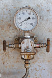 Pressure gauge for measuring pressure Stock Images