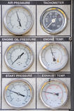 Pressure gauge for measuring pressure in the system Royalty Free Stock Images
