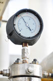 Pressure gauge for measuring pressure in the system, Oil and gas process Royalty Free Stock Image