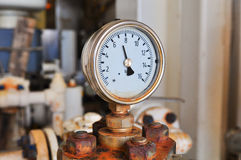 Pressure gauge for measuring pressure in the system Stock Image