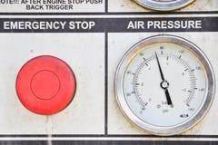 Pressure gauge for measuring Stock Image