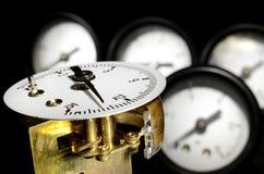 Pressure gauge mechanizm Royalty Free Stock Images
