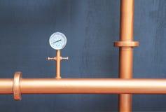 Pressure gauge meter Stock Image