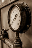 Pressure Gauge Reading Zero Stock Photos