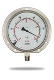 Pressure gauge stainless steel body burdon tube type Royalty Free Stock Photography
