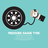 Pressure Gauge Tyre Stock Image