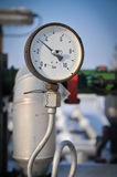 Pressure gauge and valve oil pump Royalty Free Stock Photos