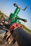 Pressure gauge and valve oil pump Stock Photos