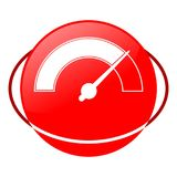 Pressure gauge vector illustration, Red icon Royalty Free Stock Images