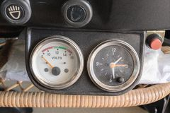 Pressure gauge volts Royalty Free Stock Image